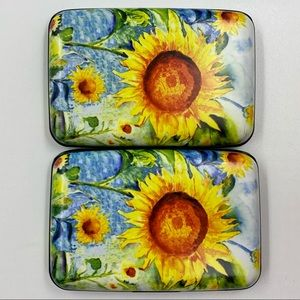 Armored Wallet Set (2) with Sunflower Scene